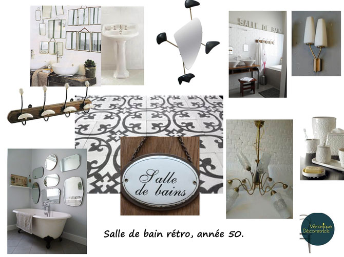 salle de bain vintage decovero. Black Bedroom Furniture Sets. Home Design Ideas
