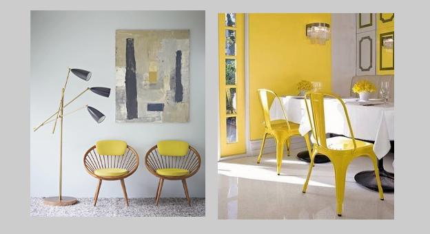 Le jaune dans la décoration