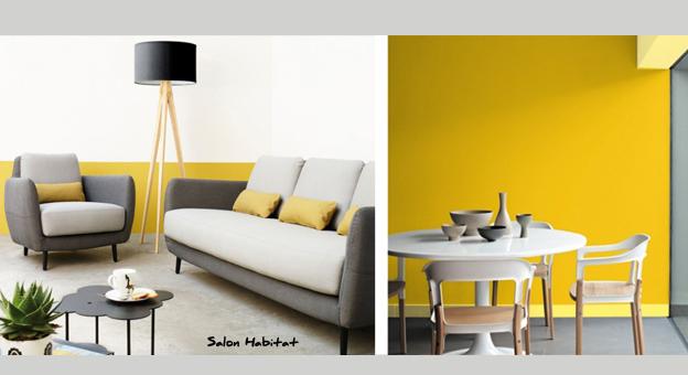 Le jaune dans un séjour